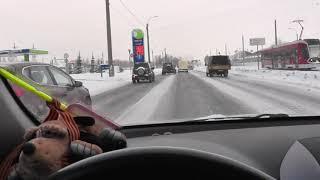 Управление автоматом на скользкой дороге.