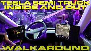 Tesla Semi Truck Detailed Interior and Exterior Walk Around