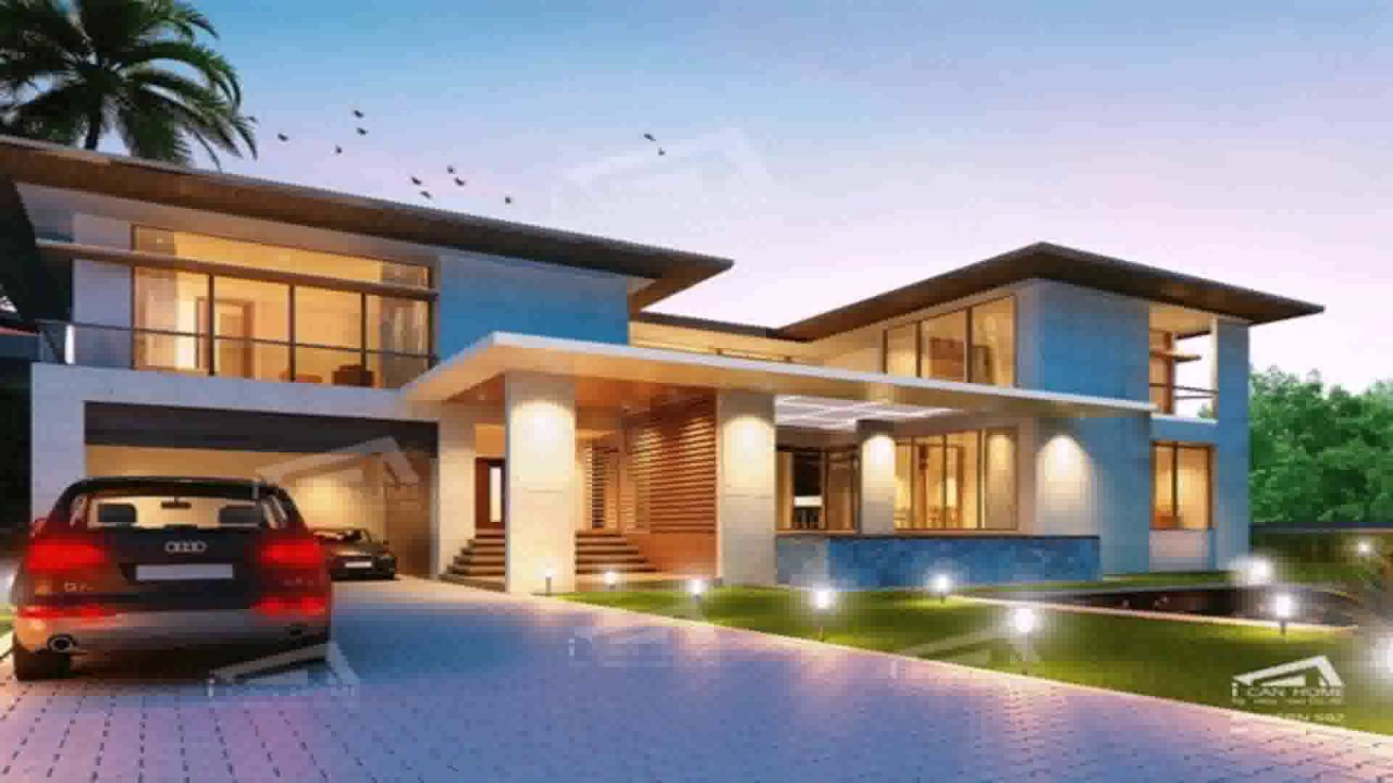 Modern Style 2 Story House Plans YouTube