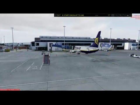 Mike Collins Live Stream P3Dv3.1:- RYANAIR Virtual EGPH/EGSS Featuring Cielosim Airport Enhancer HDX