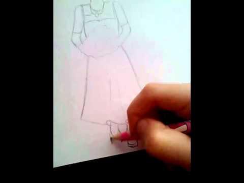 Мастер-класс девушка в свадебном платье
