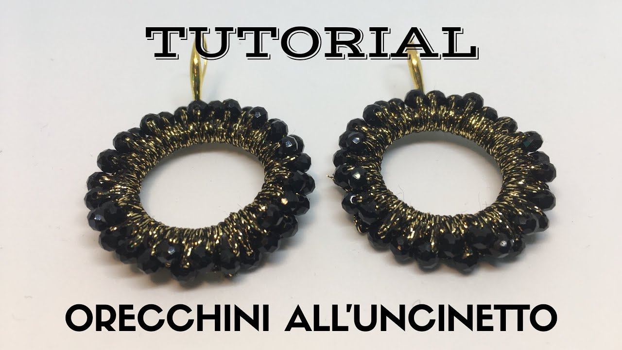 Tutorial Orecchini Alluncinetto Con Perline Youtube
