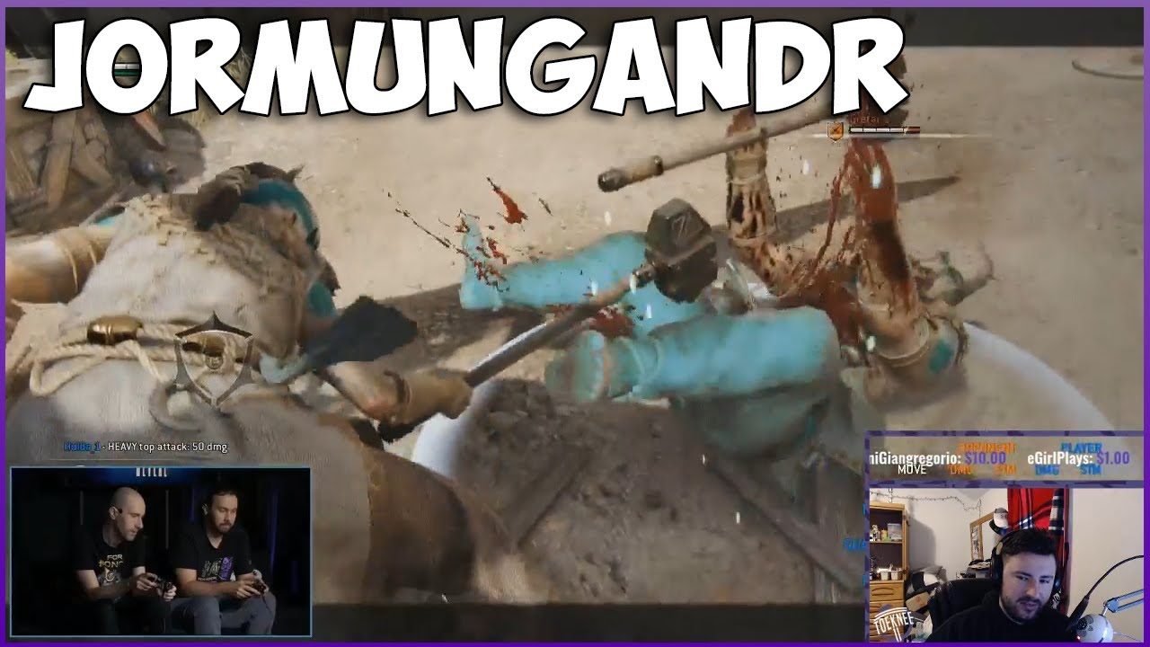 9eb83f38 FOR HONOR - JORMUNGANDR GAMEPLAY REACTION!