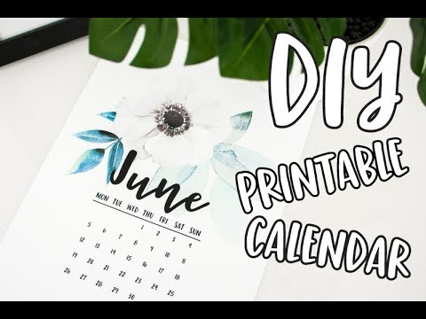 How to Make a Printable Calendar How to DIY Calendar How to make a