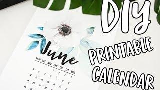 How to Make a Printable Calendar. How to DIY Calendar. How to make a calendar tutorial. Calendar DIY