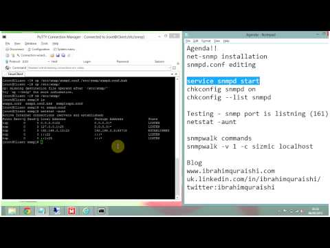NET-SNMP installation and configuration on Linux