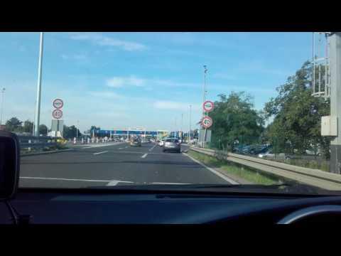ENC Chorvatsko - průjezd mýtnicí na Lučku / Záhřeb. ENC Toll Croatia Zagreb Lučko