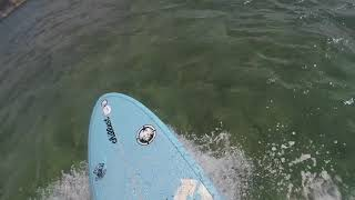 """SMALL SURF AT ALA MOANA BOWLS ON MY 7'6"""" TORQ FUNBOARD SURFBOARD 10-21-17"""