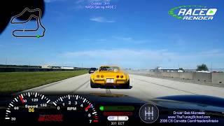 Sebring NASA In-Car Video w/data in our C6 Corvette!