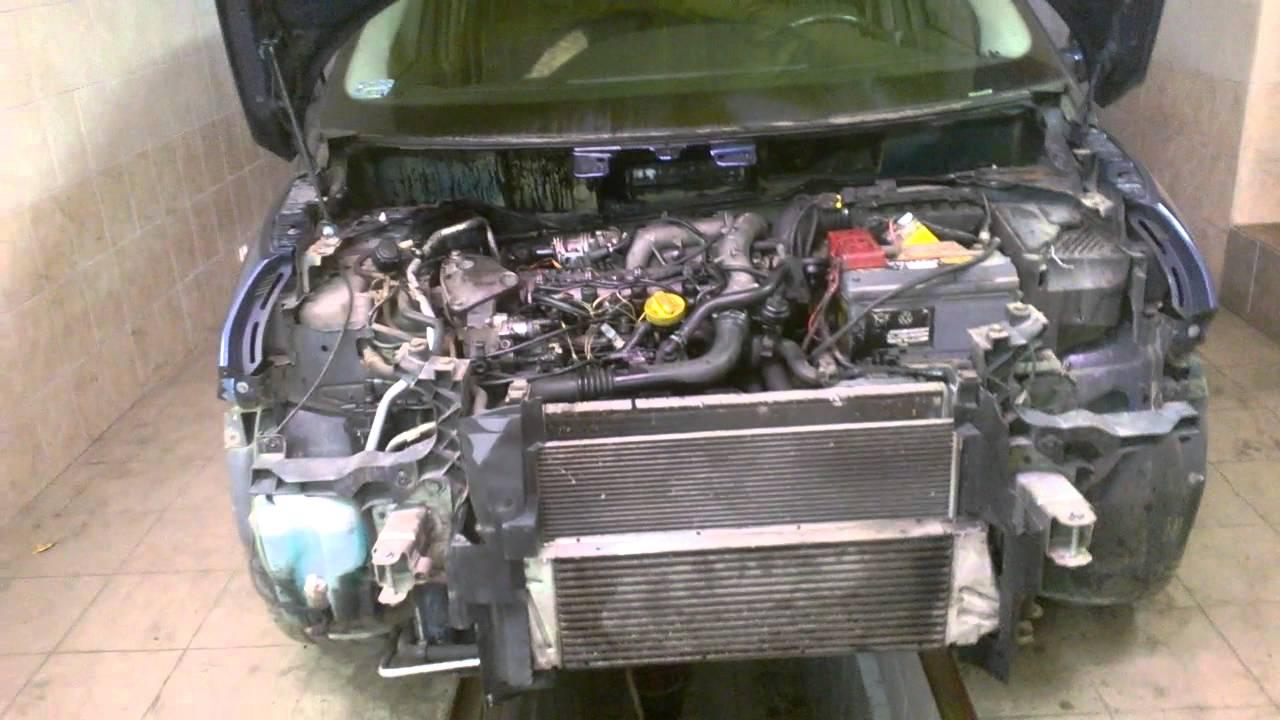 Bardzo dobra Scenic II 1.9dci Wyjęcie silnika. - YouTube KT77