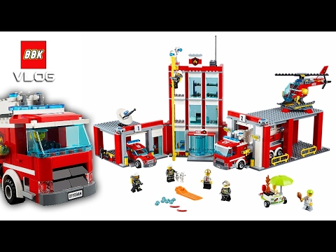 Lego City Fire Station 60110 Quick Review Youtube
