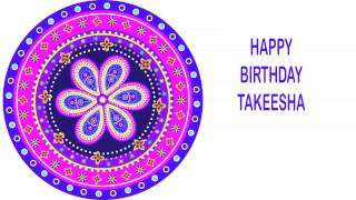 Takeesha   Indian Designs - Happy Birthday