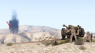 122mm D-30 Howitzer Vs Tanks - Anti-tank Operation US ARMY ARMA 3 Milsim