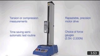 MultiTest-d Motorised Force Tester - Product Overview - Mecmesin Force Measurement