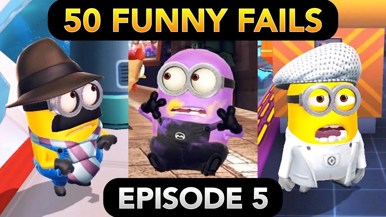 Minion Rush 50 FUNNY FAILS (Episode 5) | El Macho's Lair, Bratt's Lair, Vector's Fortress