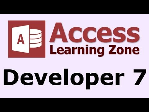 Microsoft Access Developer Level 7  Introduction  YouTube