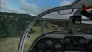 FS2004 SibWings SAAB 91 Safir landing