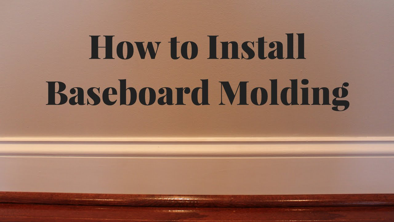 How to cut base molding in place - How To Cut Base Molding In Place 5