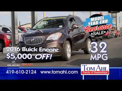 Tom Ahl Buick Gmc Year End Model Clearance Sale October 2016