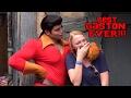 GIRL WON'T GIVE GASTON A KISS!!! - Walt Disney World - Gaston - Beauty and the Beast Village.