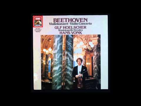 Beethoven, Violin Concerto Op 61, 1st mov, Ulf Hoelscher, Violin, Hans Vonk, cond