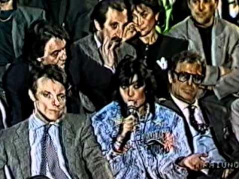 Loredana Bertè - Spezzoni intervento a DopoFestival 1988