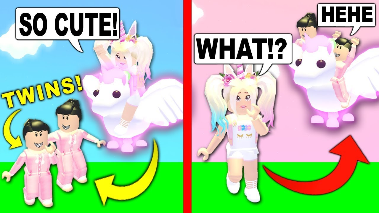 Evil Twins Tried To Steal My Neon Flying Unicorn In Adopt Me