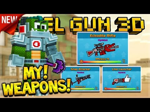 I HAVE MY OWN WEAPONS EVENT SET ADDED TO THE GAME! EARLY GAMEPLAY! | Pixel Gun 3D
