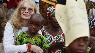 Mia Farrow visits girls affected by gender-based violence in DR Congo