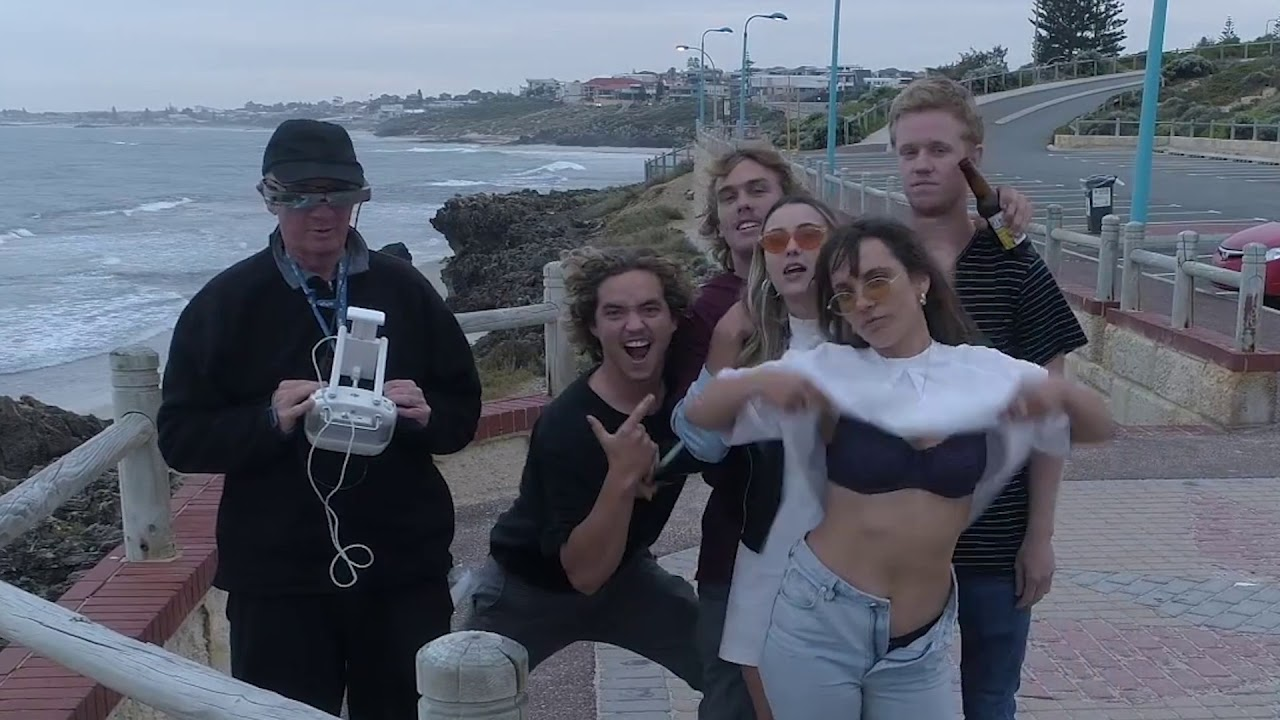 White People Antics - Partying with a Drone