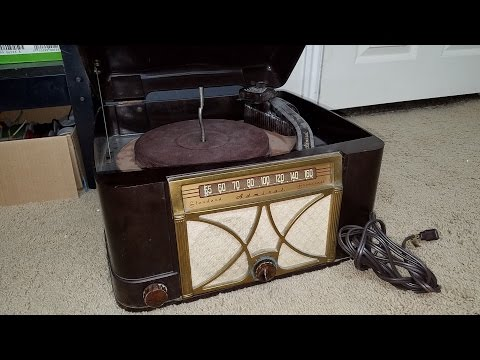 1949 ADMIRAL Radio Record Player Part 1 of 8 First Look