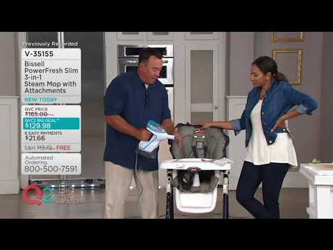 Bissell PowerFresh Slim 3-in-1 Steam Mop With Attachments On QVC