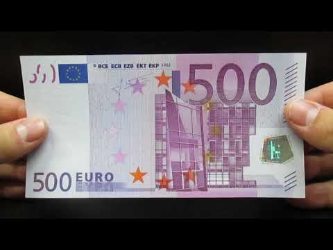 Banconota 500 Euro Prima Serie BCE EU