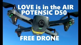 Potensic Mirage D50 FREE DRONE Love Is in the Air GPS RC QUADCOPTER