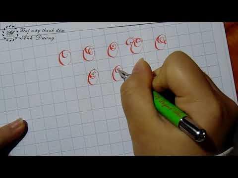 Cách viết và mẫu chữ O hoa sáng tạo - Mẫu chữ O sáng tạo