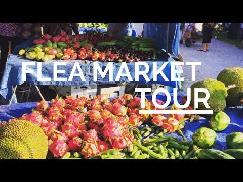 Huge vegetable flea market in St. Petersburg Florida.