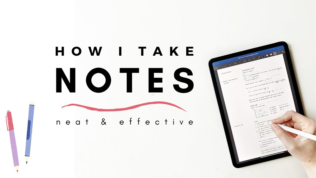 How I take notes (2021 update) | Simple tips for neat and effective notes | studytee