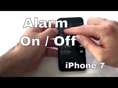 How To Turn Alarm On Off