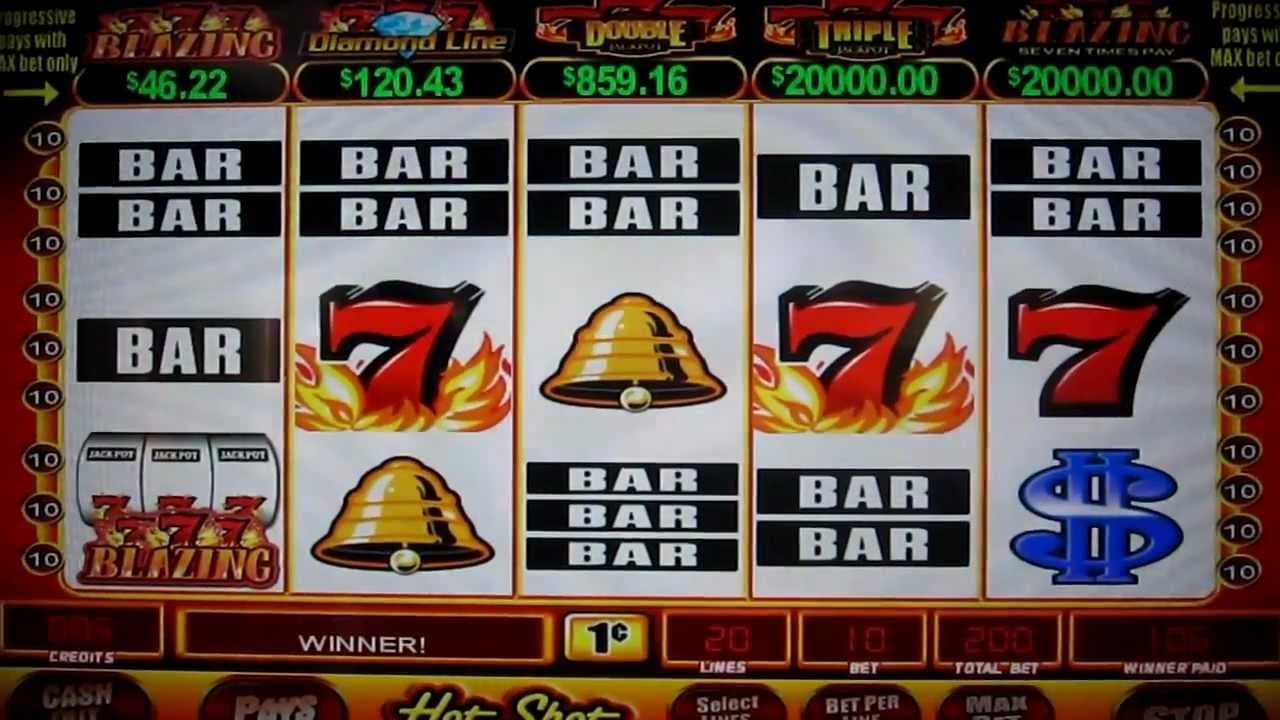 Playing the Lucky 7's Slot Machine in Las Vegas - YouTube