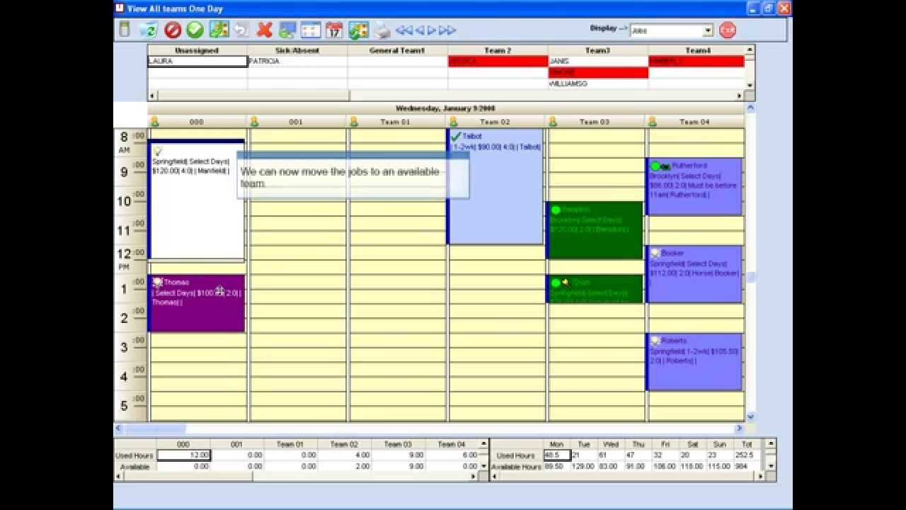 Daily Management Calendar for Field Service Business