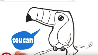 How to Draw a Toucan - Easy Pictures to Draw