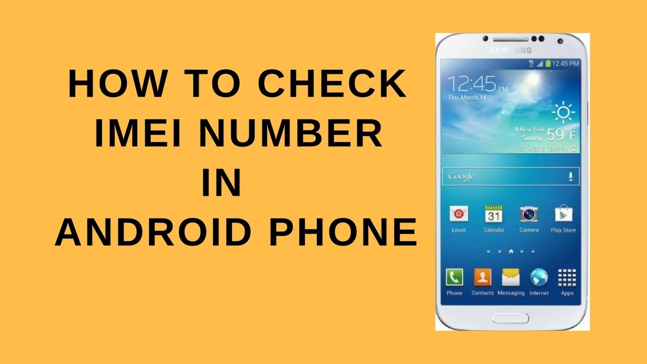 How to check imei number from Samsung android phone or device - YouTube