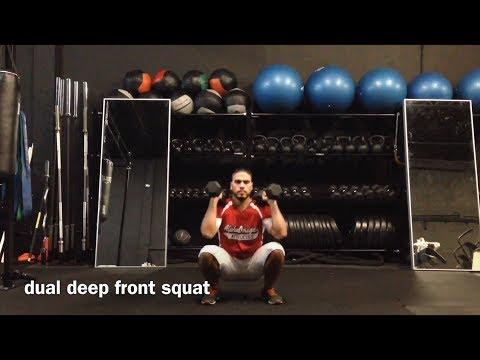 dual deep front squat