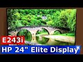 Hp elitedisplay e243i 24 inch monitor review setup and unboxing 1fh49a8 mp3