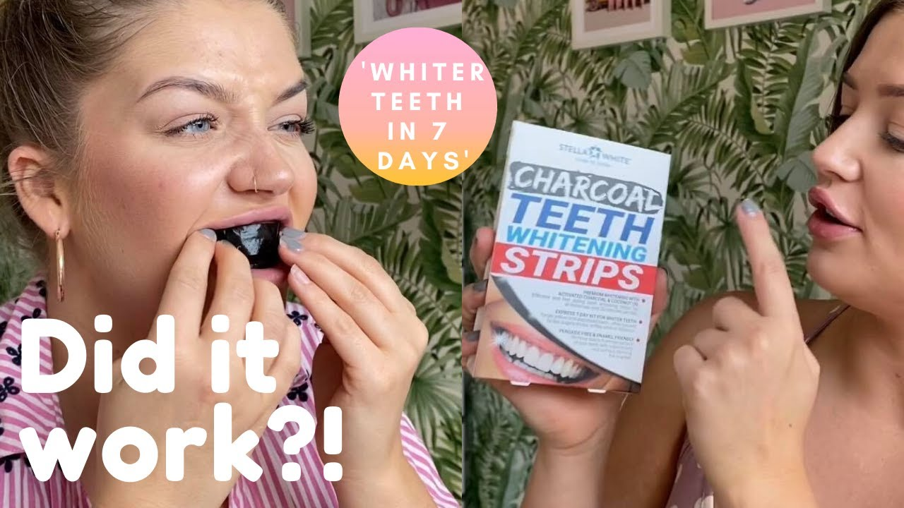 Charcoal Teeth Whitening Strips Review Stella White Home