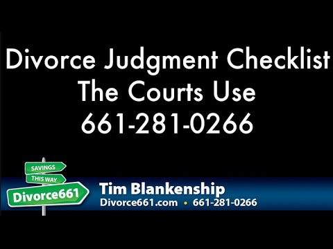San Fernando Divorce Judgment Checklist The Courts Use To Review Your Divorce Judgment