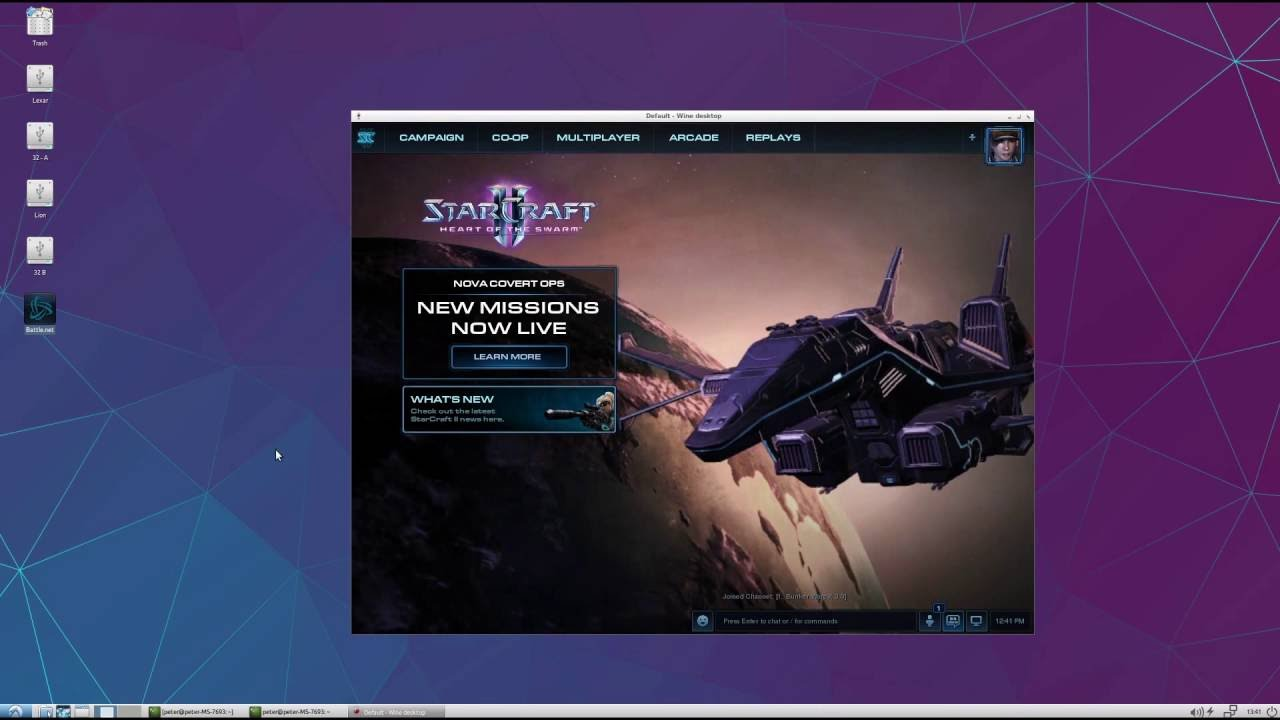 Starcraft 2 on Linux lubuntu 16 04