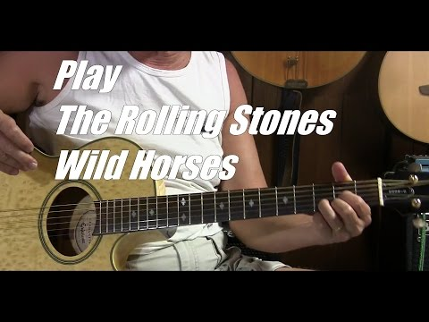 How to Play Wild Horses by The Rolling Stones in Standard Tuning - L45