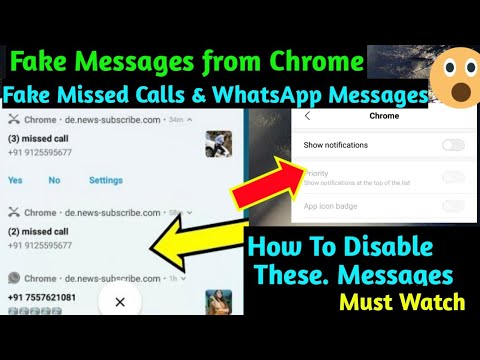 How To Disable Fake Missed Calls & WhatsApp Messages from Chrome 2019