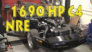 NRE 1690 HP Corvette C4 Build.  Awesome Mirror Turbo Engine.  1990 Corvette.  Tom Nelson.